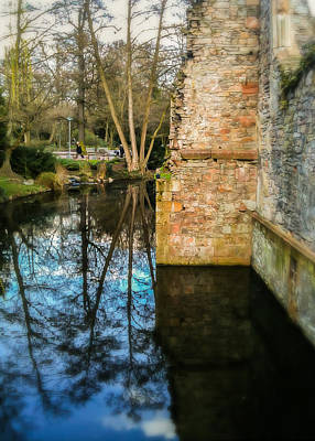 Moat Photograph - All That Remains by Jon Woodhams