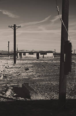 Telephone Poles Photograph - All That's Left Of Us by Laurie Search