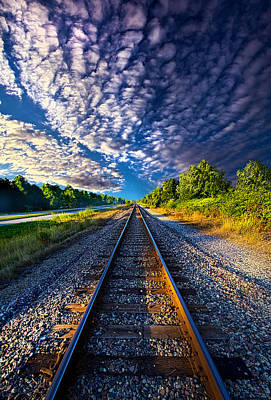 Train Tracks Photograph - All The Way Home by Phil Koch