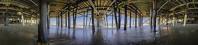 San Clemente Surfing Photograph - All The Way Under The Pier by Scott Campbell