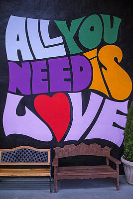 All You Need Is Love Print by Garry Gay