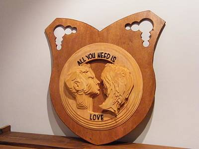 Wall Mounting Sculpture - All You Need Is Love by Motti Inbar