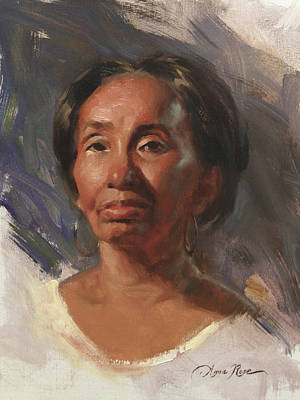 African-american Painting - Alla Prima Ann by Anna Rose Bain