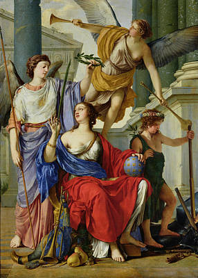 Angels Trumpet Photograph - Allegory Of The Regency Of Anne Of Austria 1601-66 1648 Oil On Canvas by Laurent de La Hire or La Hyre