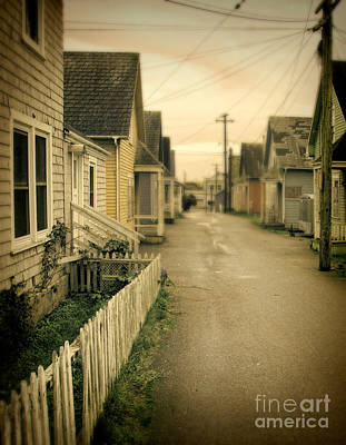 Alley And Abandoned Houses Print by Jill Battaglia