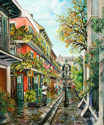 Louisiana Oil Painting - Alley Jazz by Dianne Parks
