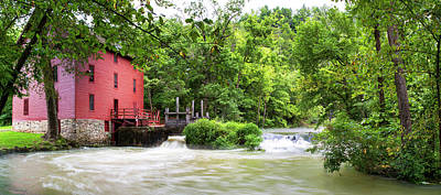 Ozarks Photograph - Alley Spring And Mill, Ozark National by Panoramic Images