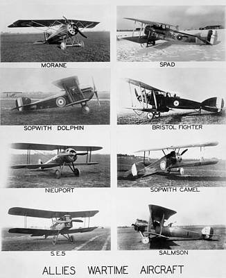 Allies World War I Aircraft Print by Underwood Archives