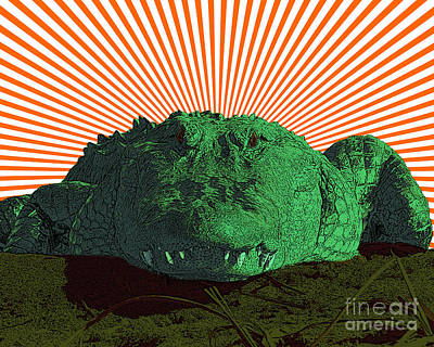 Reptiles Mixed Media - Alligator Art by Al Powell Photography USA