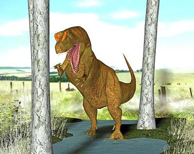 Paleozoology Photograph - Allosaurus Dinosaur by Friedrich Saurer