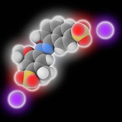 Allura Red Ac Food Dye Molecule Print by Laguna Design