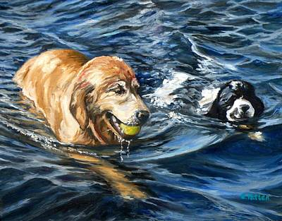 Cocker Spaniel Painting - Ally And Smitty by Eileen Patten Oliver