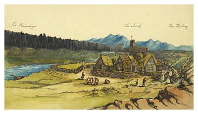 Almanna Gorge Circa 1862 Print by Aged Pixel