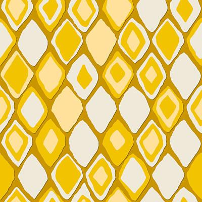 Bohemian Drawing - Almas Diamond Gold by Sharon Turner