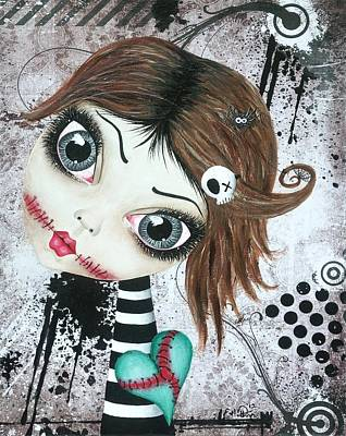 Cobwebs Painting - Almost A Ghost by Oddball Art Co by Lizzy Love