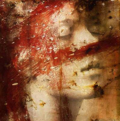 Woman Portrait Digital Art - Almost Extinguished by Gun Legler