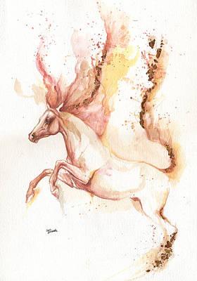 Horse Photograph - Almost Like An Unicorn by Angel  Tarantella