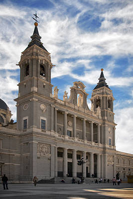 Portal Photograph - Almudena Cathedral by Joan Carroll