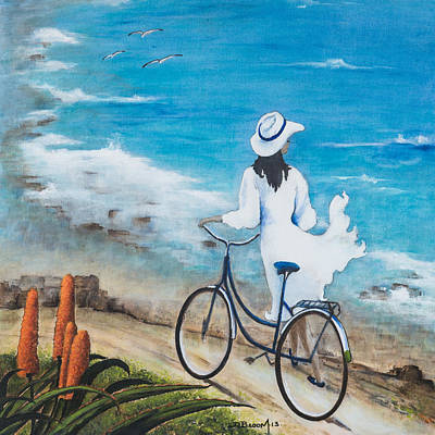 Aloe Painting - Aloes By The Sea by Dawn Broom