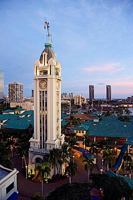 Aloha Tower 2 - The World Famous Aloha Tower In Honolulu Print by Nature  Photographer