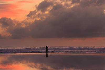 Fading Dream Photograph - Alone At Sunset I by Marco Oliveira