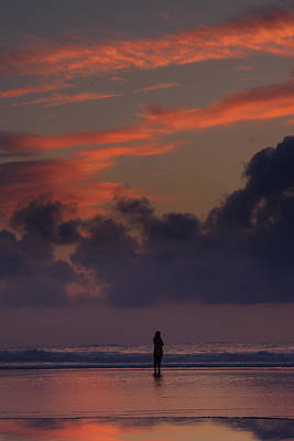 Fading Dream Photograph - Alone At Sunset II by Marco Oliveira
