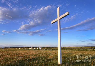 Alberta Prairie Landscape Photograph - Alone At The Cross by Dan Jurak