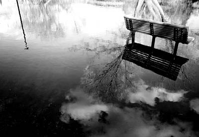 Park Benches Photograph - Alone I Sit by JC Photography and Art