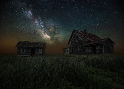 Left Photograph - Alone In The Dark by Aaron J Groen