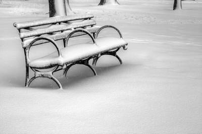 Winter Storm Photograph - Alone In The Park by JC Findley