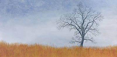 Mississippi River Painting - Alone Winter by Garry McMichael