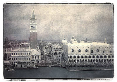 Tourist Attraction Digital Art - Along St. Mark's Square by Julie Palencia