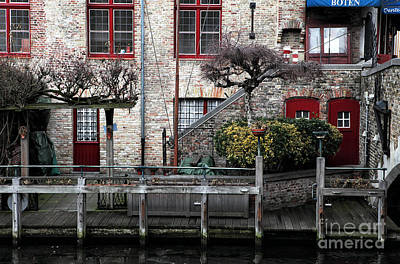 Along The Canal Print by John Rizzuto