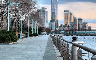 New York City Skyline Photograph - Along The Hudson by JC Findley