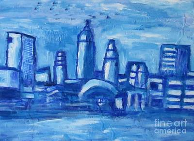 Lakefront Painting - Along The Lakefront by Owen McCafferty