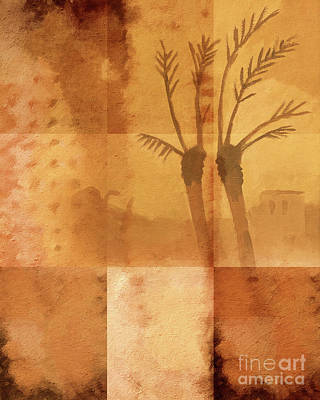 Along The River Nile Print by Lutz Baar
