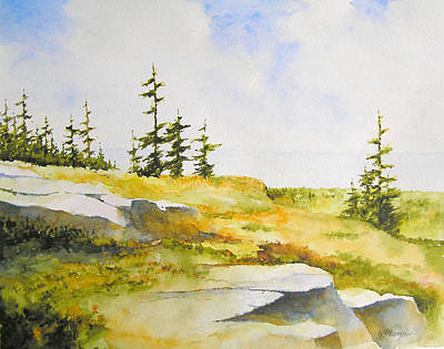 Backpacking Painting - Along The Superior Hiking Trail by William Beaupre
