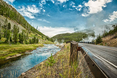 Along The Volcanic Yellowstone Road Print by Andres Leon