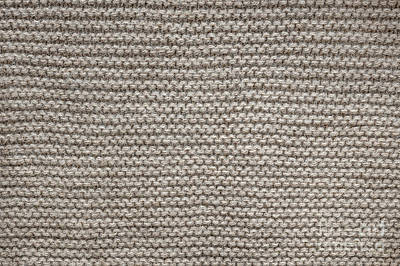 Alpaca Wool Knit Texture Print by Elena Elisseeva