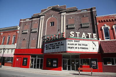 Alpena Michigan - State Theater Print by Frank Romeo