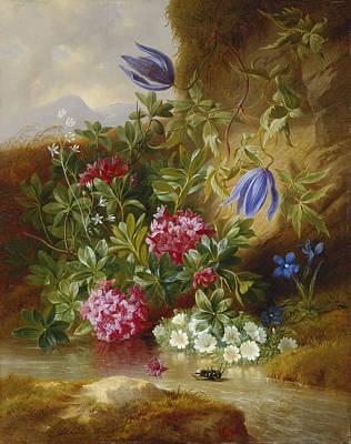 Alpenblum Print by Josef Schuster