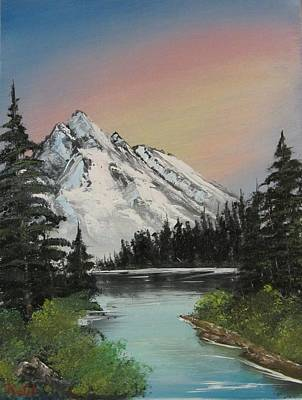 Wet On Wet Painting - Alpenglow by Gavin Kutil
