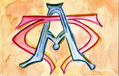 Greek Icon Painting - Alpha And Omega - Study #2 by Elizabeth Briggs