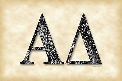Alpha Delta - Parchment Print by Stephen Younts
