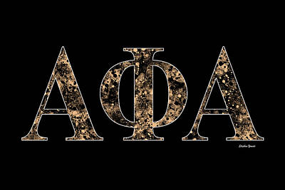 Notre Dame Digital Art - Alpha Phi Alpha - Black by Stephen Younts