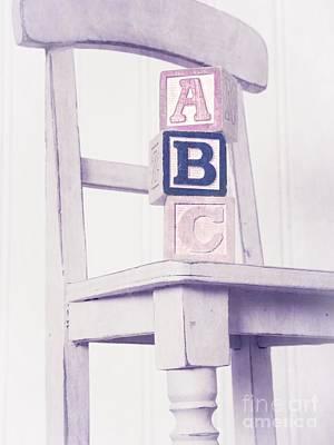 Alphabet Blocks Chair Print by Edward Fielding