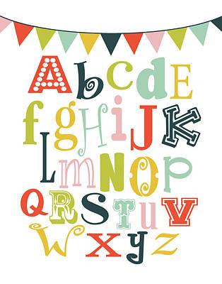 Lime Painting - Alphabet Bunt by Tamara Robinson