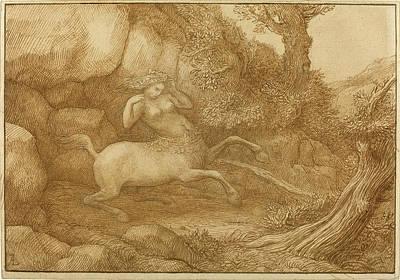 Centaur Drawing - Alphonse Legros, Centaur Woman, French, 1837 - 1911 by Quint Lox
