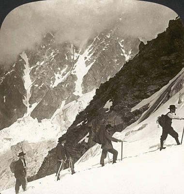 Ambition Photograph - Alpine Mountaineering, 1908 by Granger