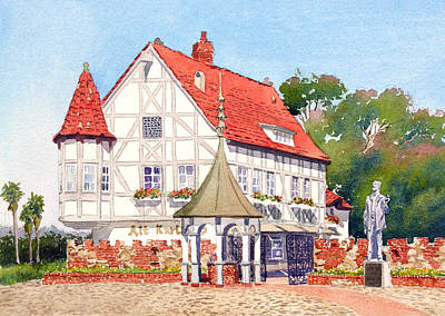 Historic Buildings Painting - Alt Karlsbad California by Mary Helmreich